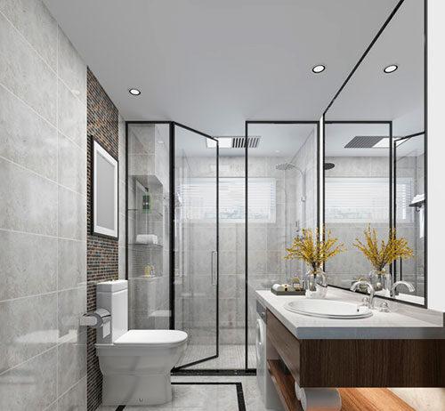Szklane elementy w łazience